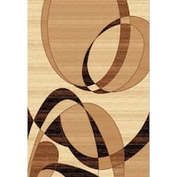 Chelsea Florissant Abstract Beige Area Rug - 9'2 x 12'6