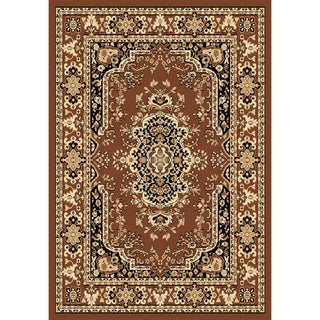 "Chelsea Traditional Persian Brown Area Rug - 3'6"" x 5'3"""
