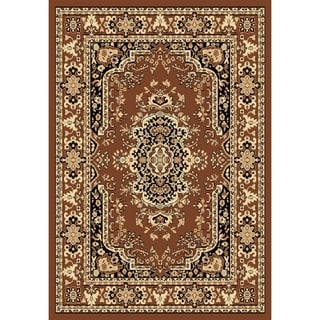Chelsea Traditional Persian Brown Round Area Rug - 7'9 x 7'9
