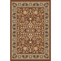 "Chelsea Traditional Oriental Brown Area Rug - 3'6"" x 5'3"""