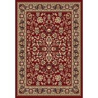 Chelsea Traditional Oriental Red Round Area Rug - 7'9 x 7'9