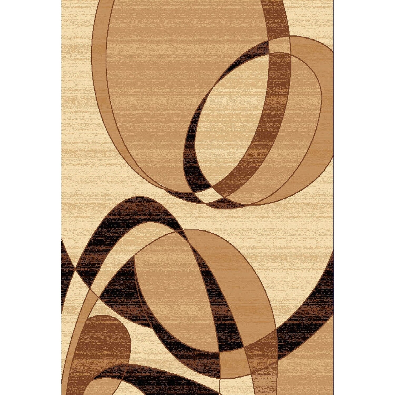 Chelsea Florissant Abstract Beige Area Rug - 36 x 53 (36 x 53 - Beige/Brown)