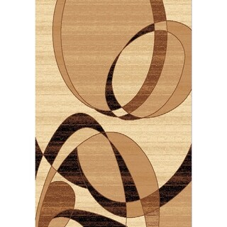 Chelsea Collection Florissant Chocolate/Ivory/Beige Abstract Round Area Rug (7'9 x 7'9)