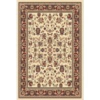 Chelsea Traditional Oriental Ivory Round Area Rug - 7'9 x 7'9