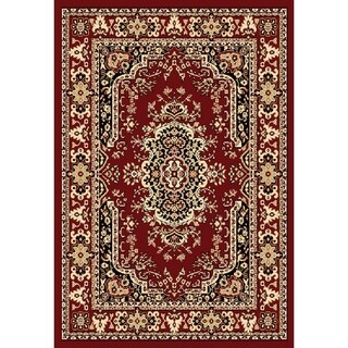 "Chelsea Traditional Persian Red Area Rug - 3'6"" x 5'3"""