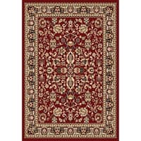 "Chelsea Traditional Oriental Red Runner Rug - 1'10"" x 7'3"""