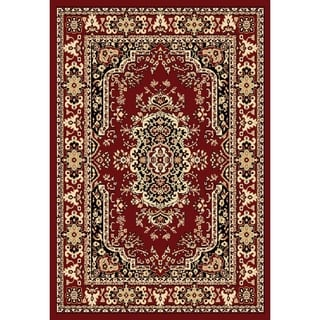 Chelsea Traditional Persian Red Round Area Rug - 7'9 x 7'9