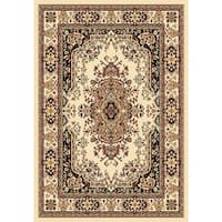 Chelsea Traditional Persian Ivory Round Area Rug - 7'9 x 7'9