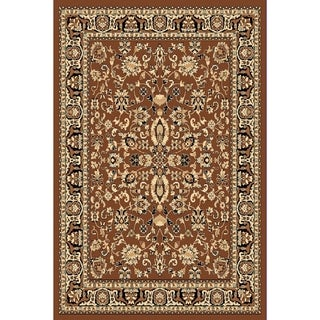 Chelsea Traditional Oriental Brown Round Area Rug - 7'9 x 7'9