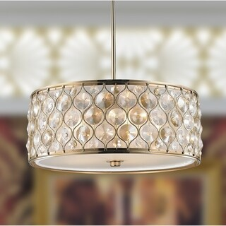 Brilliance Lighting Jewel Collection Gold Metal and Crystal 5-light Drum Pendant