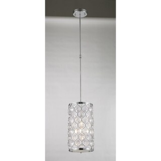 """Jewel Collection 1 Light Chrome Finish with Clear Crystal Mini Pendant D8""""H15"""""""