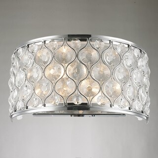 """Jewel Collection 2 Light Chrome Finish with Clear Crystal Wall Sconce W12""""xH6"""""""