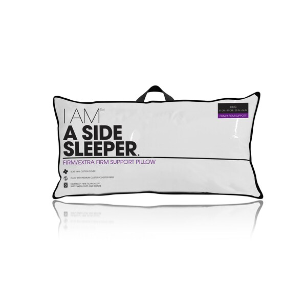 I AM a Density Side Sleeper Pillow - White