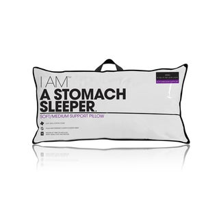 I AM a Stomach Sleeper Pillow - White