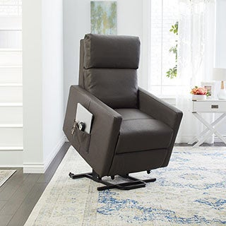ProLounger Taupe 'Tuff Stuff' Synthetic Leather Power Lift Wall Hugger Recliner