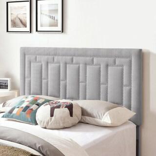 Handy Living Lisbon Grey Linen King/California King Upholstered Headboard
