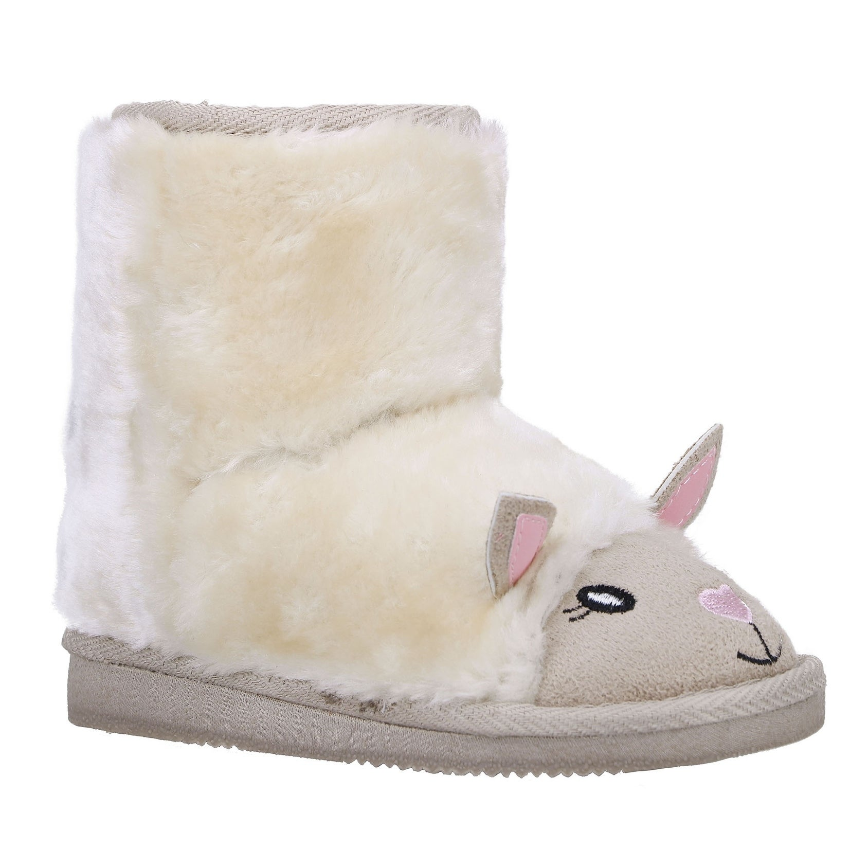 Furry Friends Sherpa Lined Faux Suede Winter Boots (927),...