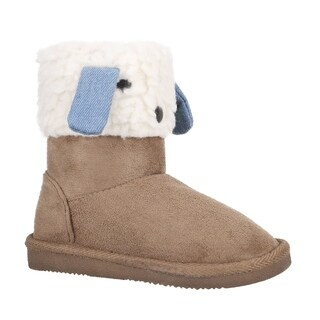 Arctic Paw Furry Friends Sherpa Lined Faux Suede Winter Boots