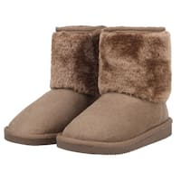 Kids' Sherpa Lined Faux Suede Winter Boots