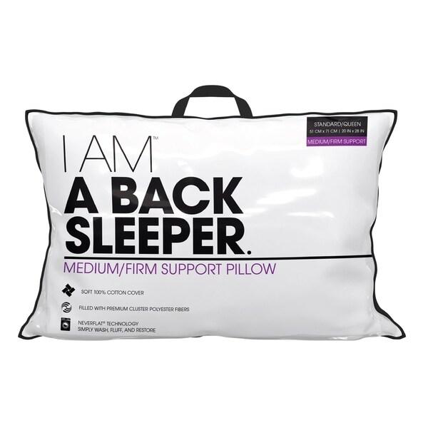 I AM A Back Sleeper Pillow - White