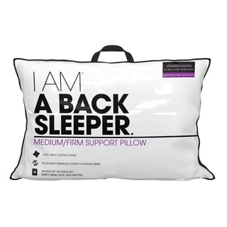 I AM A Back Sleeper Pillow - White