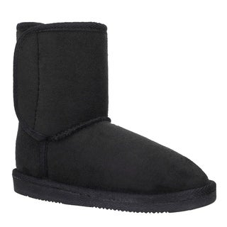 Kids' Plush Sherpa Lined Faux Suede Rubber Soled Winter Boots