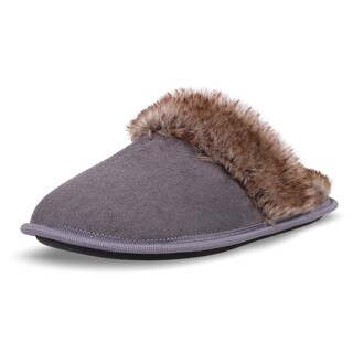 Arctic Paw Men's Plush Faux Suede Sherpa Lined House Slippers