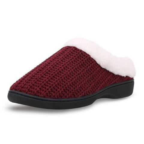 Men's Fleece Lined Rubber Sole Indoor/Outdoor Slippers