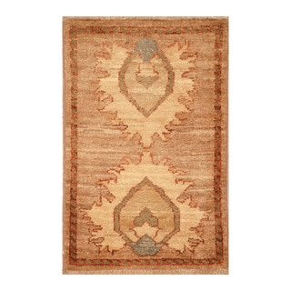 Handmade Herat Oriental Afghan Hand-knotted Vegetable Dye Wool Accent Rug (1'4 x 2')