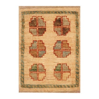Handmade Herat Oriental Afghan Hand-knotted Vegetable Dye Wool Accent Rug (Afghanistan) - 1'4 x 1'10