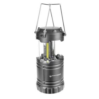 COB LED Collapsible Camping Lantern - 180 Lumen Portable Outdoor Flashlight by Stalwart (Grey)
