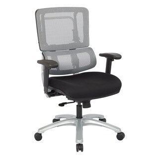 Vertical Grey Mesh Back Managers Chair with a Black Coal Freeflex Seat