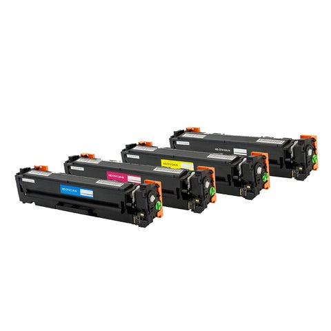 HP 410A (CF410A, CF411A, CF412A, CF413A) TONER KIT Compatible Black Cyan Magenta Yellow Toner Cartridge Set