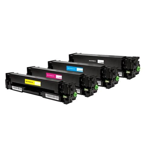HP 201X (CF400X, CF401X, CF402X, CF403X) Compatible Black Cyan Magenta Yellow Laser Toner Cartridges