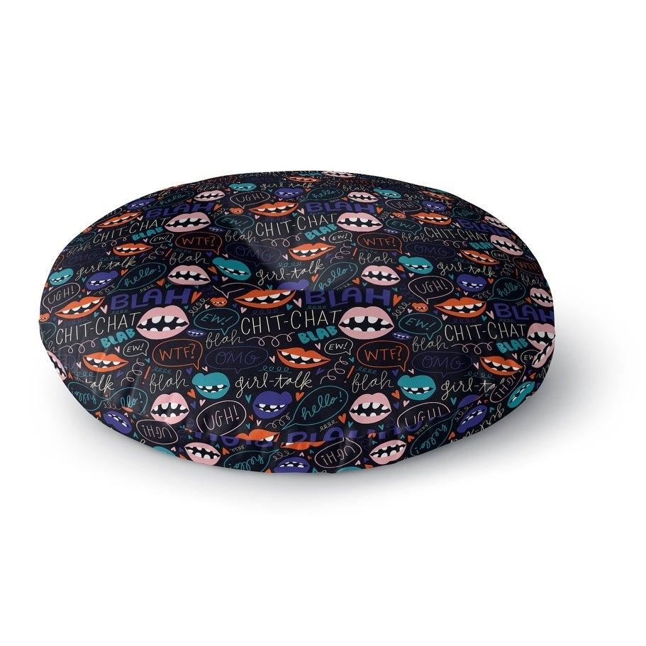 Kavka Designs Girl Talk Purple/Pink/Orange/Blue Floor Pil...