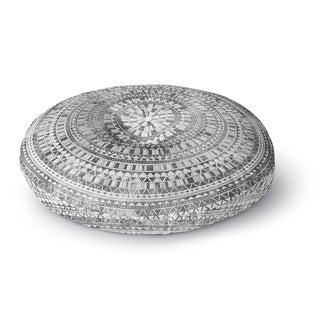 Kavka Designs Mandala Grey Floor Pillow