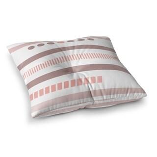 Kavka Designs Geotribal Rose Pink/White Floor Pillow
