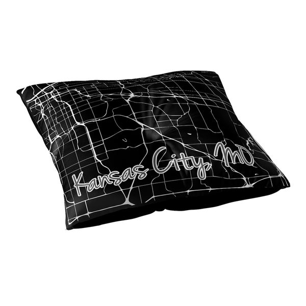Kavka Designs Kcmo Black/White Floor Pillow