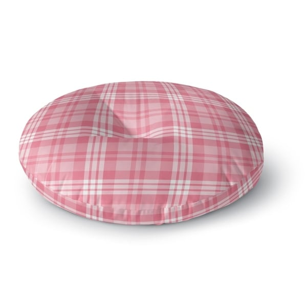 Kavka Designs Be Mine Plaid Pink Floor Pillow