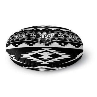 Kavka Designs Cherokee Black/White Floor Pillow