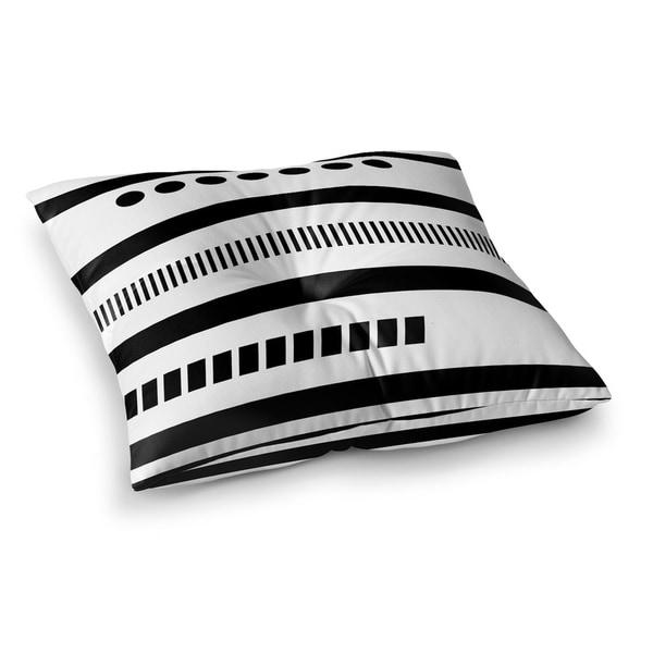 Kavka Designs Geotribal Black Black/White Floor Pillow