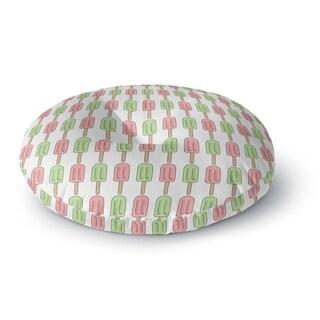 Kavka Designs Ice Cream Pink/Green/Tan Floor Pillow