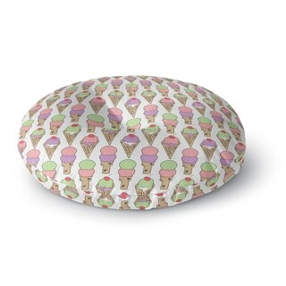 Kavka Designs Ice Cream Pink/Purple/Tan/Green Floor Pillow
