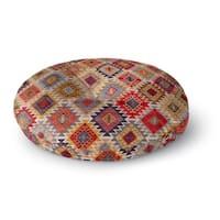 Kavka Designs Temara  Grey/Red/Yellow/Gold/Blue Floor Pillow