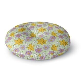 Kavka Designs Floral Green/Yellow/Purple Floor Pillow
