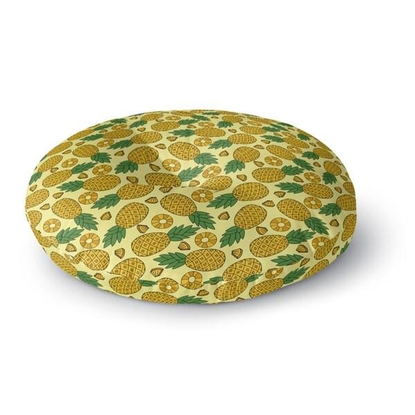 Kavka Designs Pineapple Yellow/Green Floor Pillow