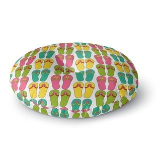 Kavka Designs Sandals Pink/Yellow/Blue/Green Floor Pillow