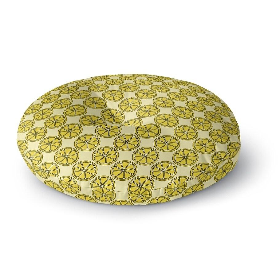 Kavka Designs Lemons  Yelliow Floor Pillow (Square - 23 x 23)
