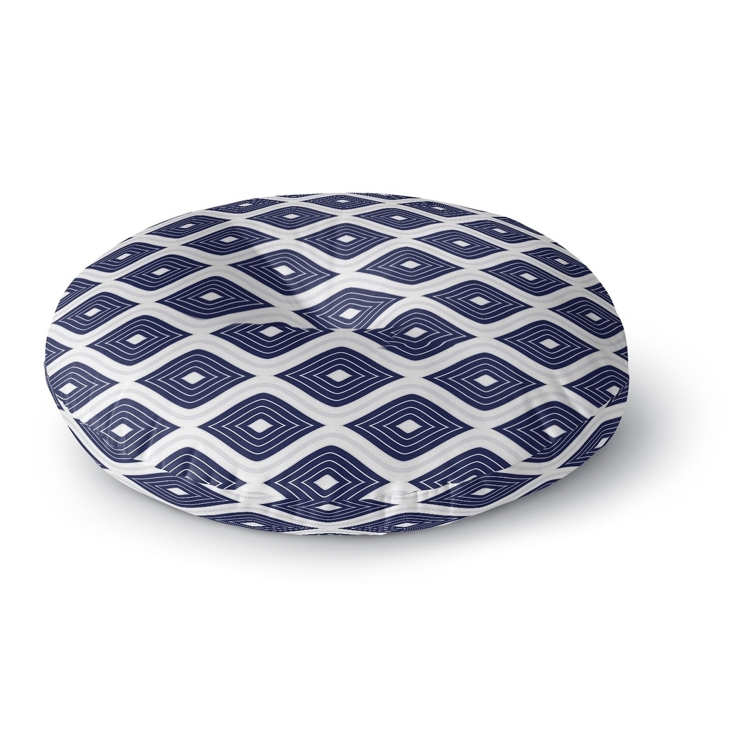 Kavka Designs Ogee Inverted  Blue/White Floor Pillow (Square - 23 x 23)