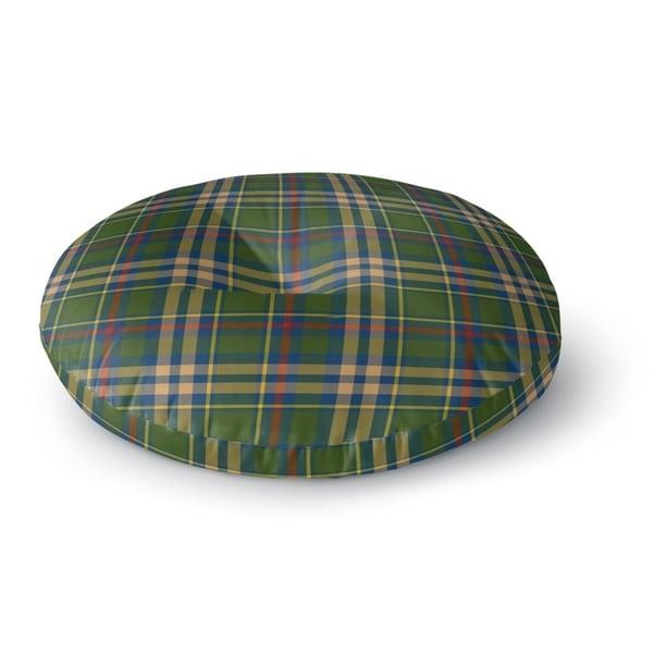 Kavka Designs Fall Plaid Green/Blue/Red Floor Pillow
